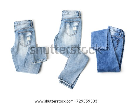 A set of clothes on a white background. Isolated.