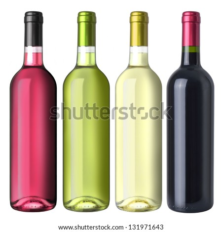 A set of four kinds of wine #131971643