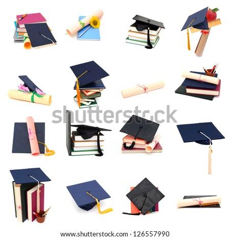 A set of graduating school