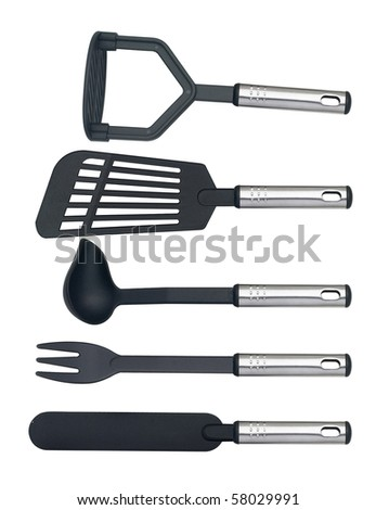 A set of plastic  kitchenware