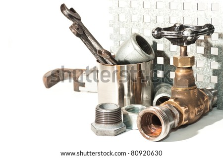 a set of plumbing for repairs of water pipes