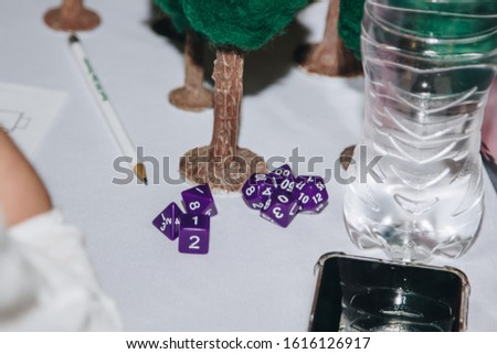 A set of polyhedral dice used for role playing games such as Dungeons Dragons Stock photo ©