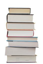 A set of textbook pile