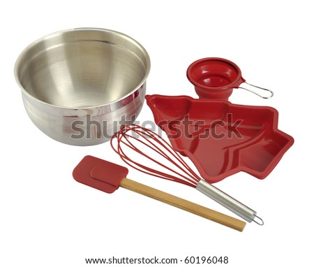 A set of tools for making cake