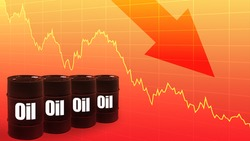 A sharp decline in crude oil production. The global fuel market is falling. Fuel crisis. The decline in oil prices. Cheap petroleum. Decline in oil companies ' quotes.
