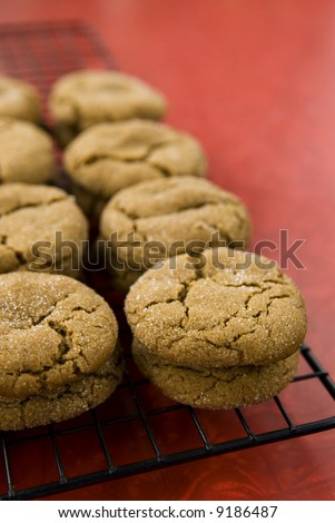 a sheet of cookies (ginger snaps)