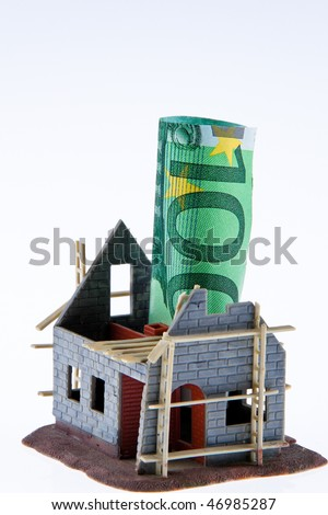 A shell house. Financing of euro banknotes