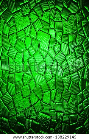 A shiny glass texture background with mosaic tile pieces
