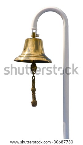 A ship's bell isolated on white background
