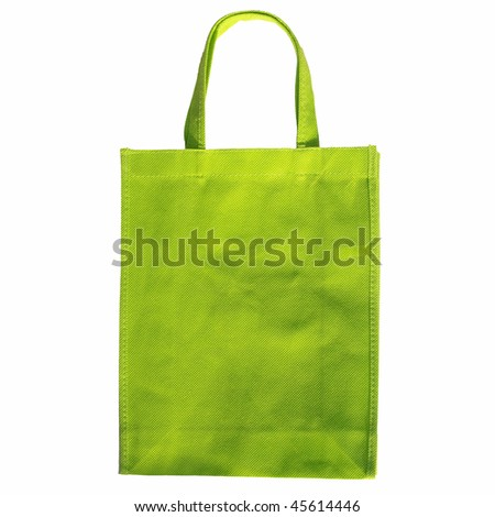 A shopper purse or bag for shopping - isolated over white background