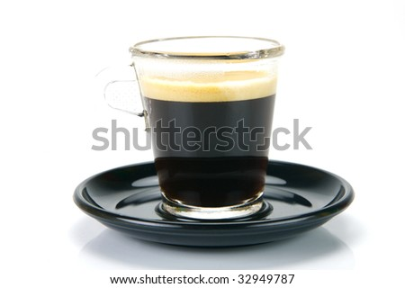 A short black isolated against a white background - stock photo