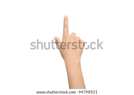 A shot of a hand pointing a finger