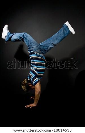 A shot of a hispanic man dancing