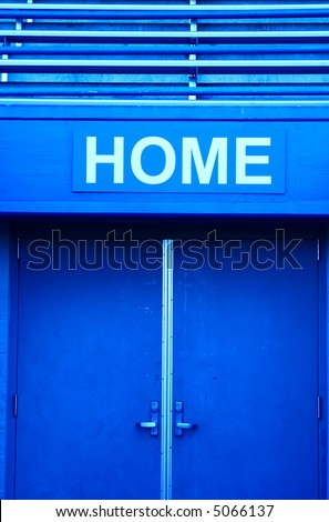 A shot of a home dressing room in a sport stadium - stock photo