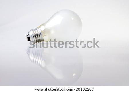 A shot of a light bulb