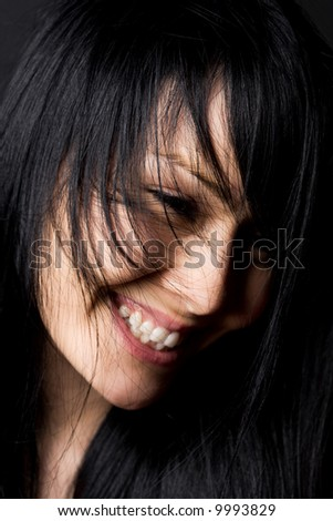 A shot of a smiling happy beautiful woman