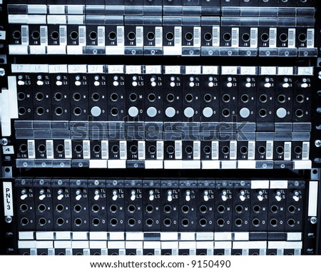 A shot of network server racks in a data center