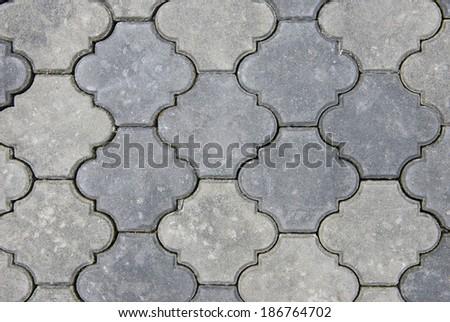 A shot of street tiles