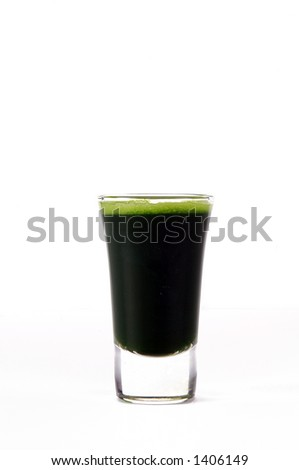 a shot of wheatgrass