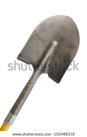 A Shovel Isolated On a White Background