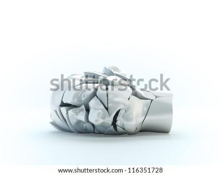 A shuttered head model - mental problems concept illustration