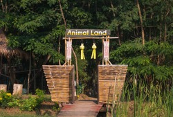 A sign to enter the animal land
