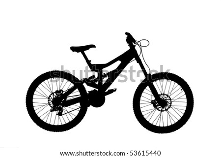 ... of a mountain bike isolated on white background - stock photo