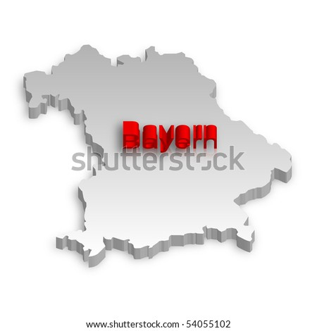 A simple 3D raster map of Bavaria.