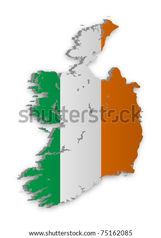 A simple 3D raster map of Ireland.