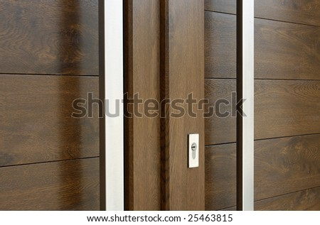 a simple frame with pvc brown door
