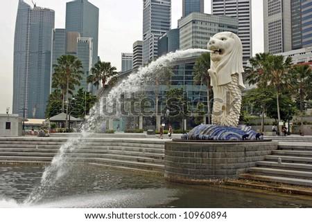 A Singapore merlion
