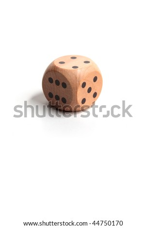 A single dice, white background.