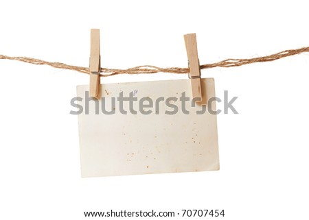 a single paper list on the rope with clothespins