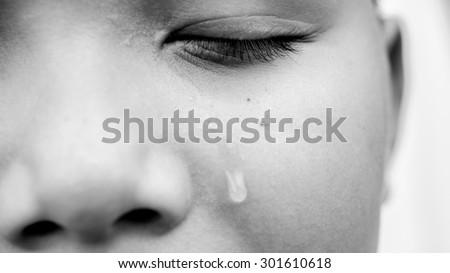 A single tear drop