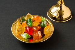 A sixteenth-century flavor Traditional Turkish Hard Colorful Candy is