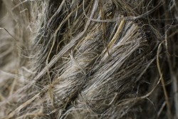 a skein of thread close-up background macro