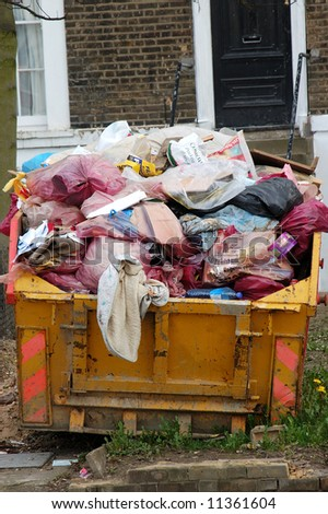 A skip full of rubbish #11361604