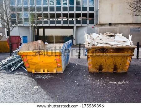 A skip full of rubbish #175589396