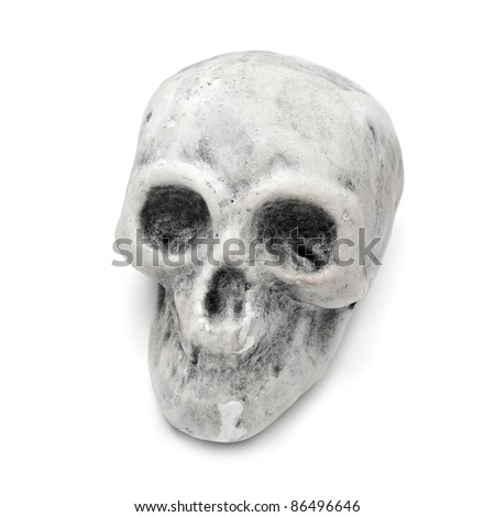 a skull for Halloween on a black background