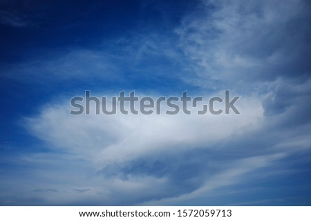 A sky full of clouds of various shapes and fun shapes. #1572059713