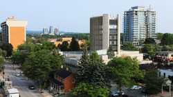 A Skyline scene in Burlington, Ontario, Canada