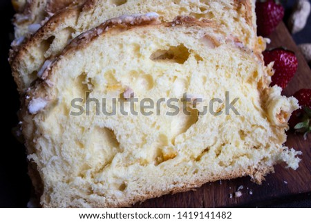 A slice of bread. White bread. Bread wood. Bread for the morning. #1419141482