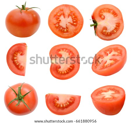A slice tomato isolated #661880956