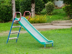 A slide in the park.