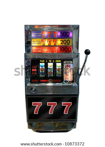 A slot machine, one arm bandit from old Las Vegas