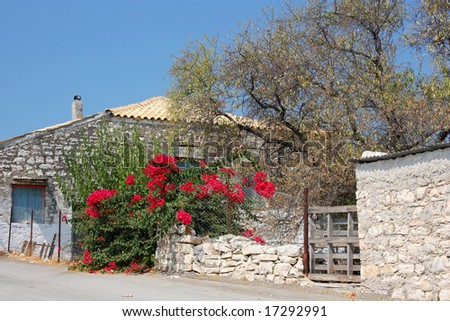 A small and old house in the village of Katomeri, in the island of Meganisi (near Lefkada island), Greece