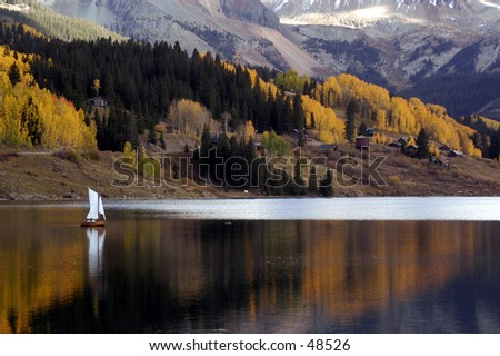 A Small Boat on a Lake