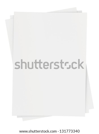 a small bunch of blank white sheets of paper