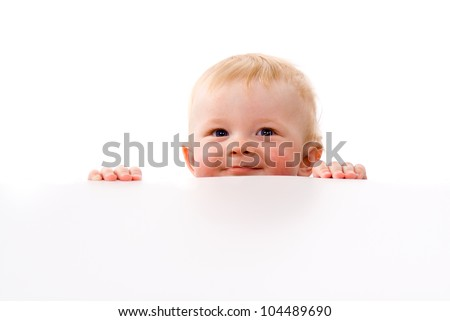 A small child Peeps isolated on white background