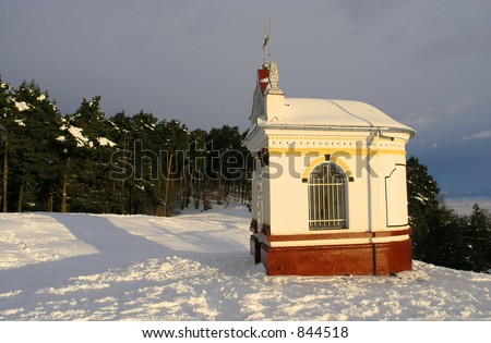 A small church in the woods